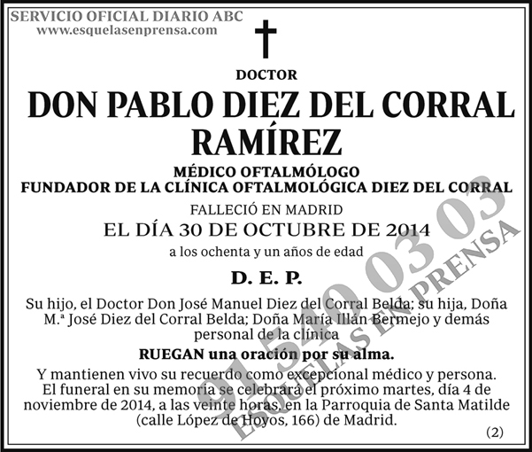 Pablo Diez del Corral Ramírez